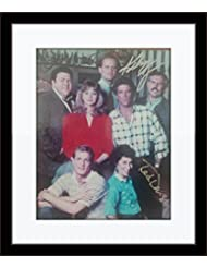 Framed Cheers TV Show Cast Members Photo Autograph with Certificate of Authenticity