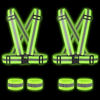 6 Engranajes Reflectantes de Alta Visibilidad - 2 Chaleco de ...