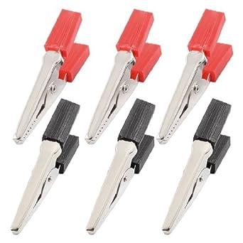 DealMux 50 milímetros plástico lidar com clipes de teste sonda de metal Jacaré (6 Piece): Amazon.com: Industrial & Scientific
