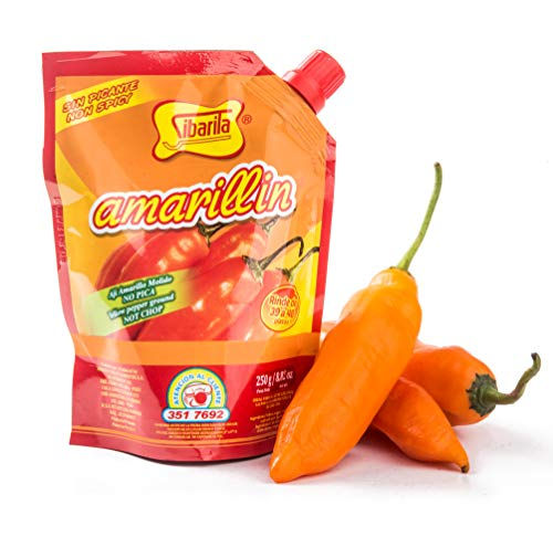c6282eb16638b Sibarita Aji Amarillo Pepper Sauce - Peruvian Yellow Chili Paste Peppers -  Non Spicy - 250 Grams - 8.82 Oz