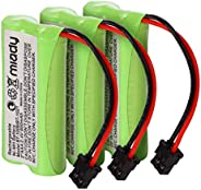 Miady Batería inalámbrica Ni-MH de 2,4 V 2 AAA 900 mAh para Uniden BT1008 BT-1008 BT1016 BT-1016 BT1021 BT-102