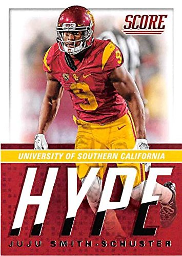 Juju Smith Schuster football card (USC Trojans Pittsburgh Steelers star) 2017 Score #14 Hype Edition - Card Rookie Smith