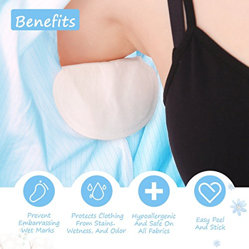 Underarm Sweat Pads, Y.F.M Underarm Antiperspirant Sticker Absorbing Sweat Pads non-woven fabric Disposable Shield Dress Shields Sweat Guard for Women and Men [40 Pack/20 Pairs] by Y.F.M (Image #5)