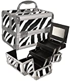 Zebra Makeup Case with Mirror Style No. TS-69, Bags Central