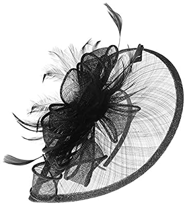 Wedding Fascinator Hats for Girls Tea Party Headband Kentucky Derby Fascinators Cocktail Feather Headwear for Women