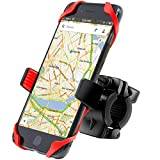 Bike Mount, Costech Universal Adjustable Bike Phone Mount; 360 Rotation Cell Phone Holder for Bicycle Motorcycle Handlebars, fits Iphone X/ Samsung Galaxy/ 3.5-6 Inch Smart Phones/ GPS
