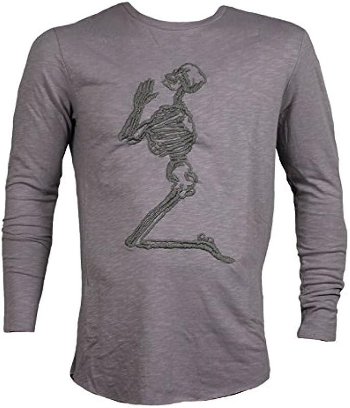 Religion Clothing Męskie Sweater Praying Skeleton Top Taupe: Odzież