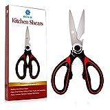 MightySharp #1 Best Kitchen Scissors Rust-Resistant, Knife-Sharp Heavy Duty Utility Shears