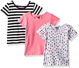 Limited Too Big Girls' 3 Pack T-Shirt, Pack Arrows Stripes Solid Multi Print, 10/12