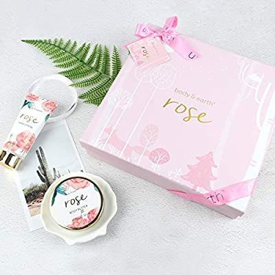 Bath Spa Gift Box for Women - Luxurious 6 Piece Bath and Body Set Includes Bubble Bath, Body Butter, Hand Cream, Body Lotion, Hand Soap and Paper Bath Soap, Perfect Women Gift for Home SPA Relaxation
