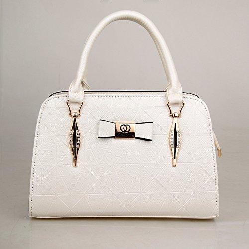 Rosa mujer Span Slanted Pu de versión Bolso moda XWAN nueva coreana white de q4gTzPxw