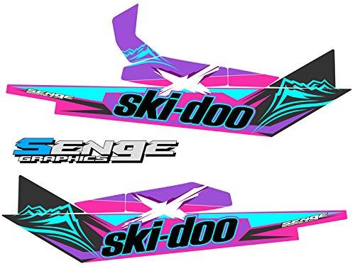 Summit Tunnel - Compatible with Ski Doo 2013-2016 Rev XM (SUMMIT) Savage Pink 137 Inch Tunnel Wrap Kit