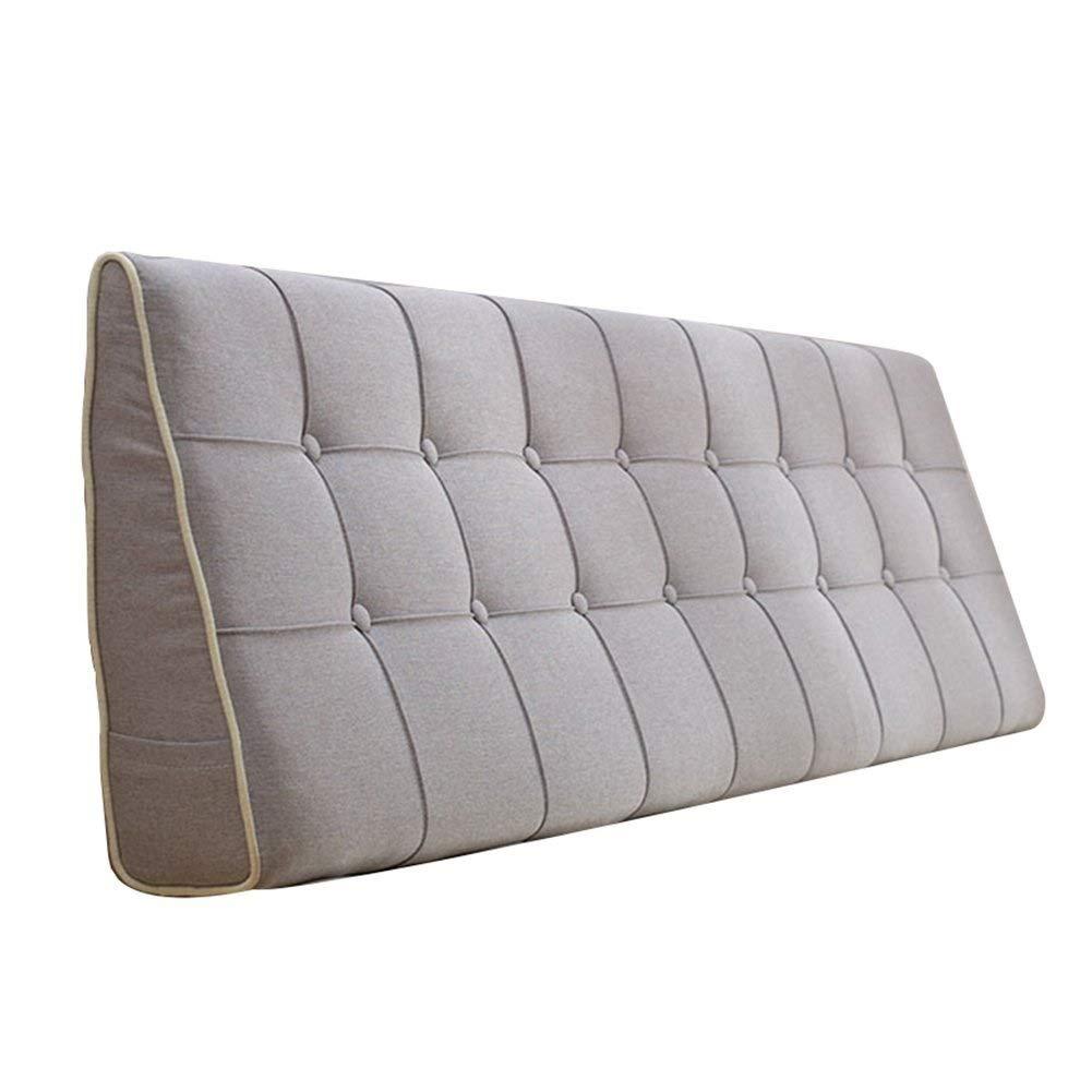 ベッドサイドクッションカバーバックリネン洗える織り枕ホーム寝室シングルダブル腰椎枕多機能腰保護枕ヘッドボード/なしヘッドボード、(5色、複数サイズ) (色 : 6#, サイズ さいず : 120x50xm) B07QVKTG7C 6# 120x50xm