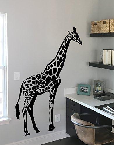 14 tall x 11 wide Giraffe Chalkboard Wall Decal