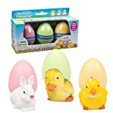 Easter Eggs - The Original Hide 'Em and Hatch 'Em Super Grow Eggs - 3 Different Pets that Grow HUGE - 5-6x Size! (Series 1)