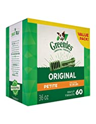 GREENIES Dental Dog Treats, Petite, Original Flavor, 60 Treat...