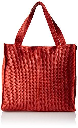 Chicca Borse 80052, Bolso Mujer Rojo
