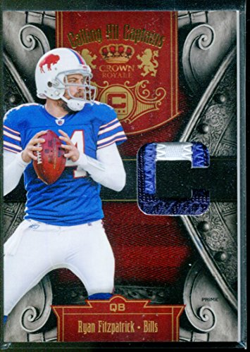 2011 Crown Royale Calling All Captains Patch 3 Ryan Fitzpatrick Jersey Card /50