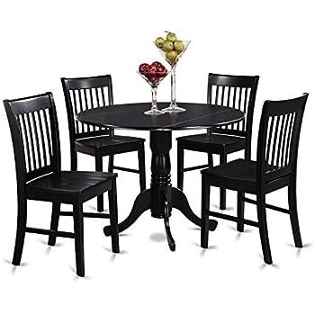 Amazon Com Home Styles 5178 318 5 Piece Dining Set Black