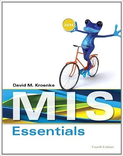 Mis essentials 4th edition david m kroenke 9780133546590 mis essentials 4th edition 4th edition fandeluxe Gallery
