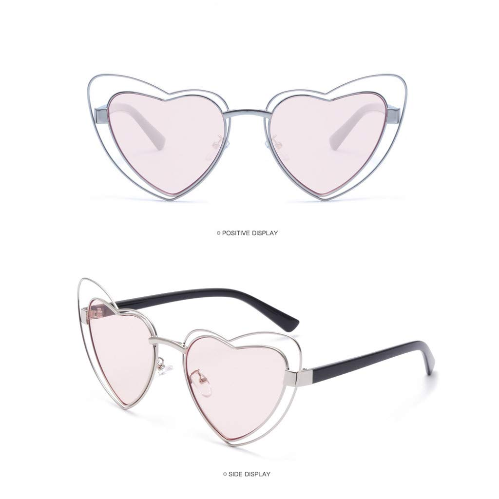 Tantisy ♣↭♣ Women Men Heart Sunglasses ☘ Popular Unisex Fashion Anti-UV Vintage Glasses Trend Personality by Tantisy ♣↭♣ (Image #2)