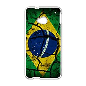 Happy Flag of Brazil Phone Case for HTC One M7