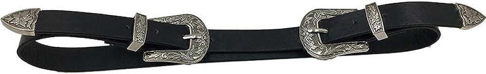 Danhjin Wink Gal Womens Boho Metal Western Double Buckle Belt