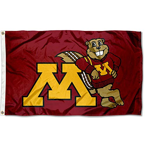 Minnesota Gophers Merchandise - College Flags and Banners Co. Minnesota Gophers Goldy 3x5 Flag