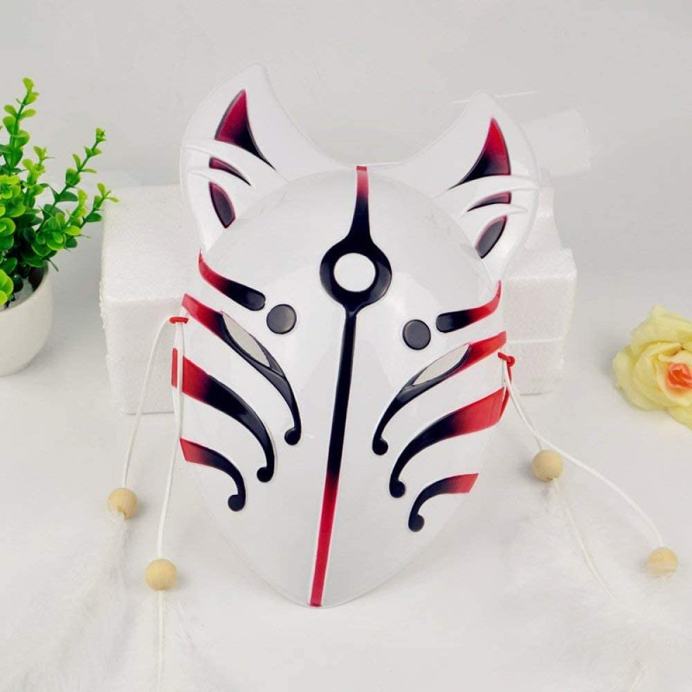 Japanese Style Fox Masks New Anime Cosplay PVC Cat Face Masquerade Party Performance Lightweight Masks Accessories,A