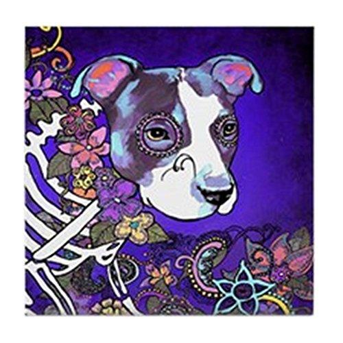 CafePress - Dia Los Muertos, Dog - Tile Coaster, Drink Coaster, Small Trivet