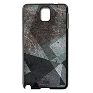 Samsung Galaxy Note 3 Case, Grey Abstract Shapes Case for Samsung Galaxy Note 3 Black lmn317565931