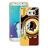 S6 Edge+ Case,Washington Redskins 21 White Samsung Galaxy S6 Edge Plus Screen Phone Case Unique and Grace Design