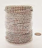 30 Meters (98 FEET) Crystal Glass 18PP Rhinestone Silver CHAINFULL Spool