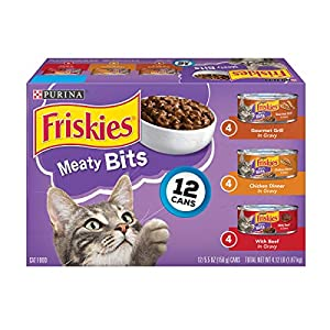 Purina Friskies Gravy Wet Cat Food Variety Pack; Meaty Bits - 5.5 oz (2 Packs of 12) 51
