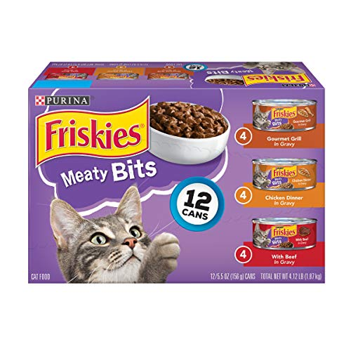 Purina Friskies Gravy Wet Cat Food Variety Pack; Meaty Bits - 5.5 oz (2 Packs of - Meaty Chicken Meals