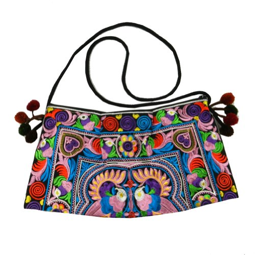 Tribe Ethnic Sling Multicolor Crossbody BTP Swingpack Hill HMONG HMSP3 Embroidered Bag Purse Shoulder qwCnxS1