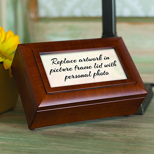 You Mean the World to Me Wood Finish Petite Jewelry Music Box Plays Wonderful World by Cottage Garden (Image #8)