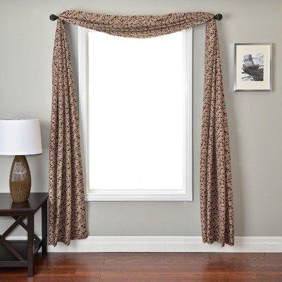 (Softline Home Fashions DELSClatchoSC Sava 6 Yard Single Window Scarf, Latte Chocolate)