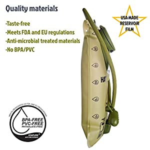 Mazama - Hatch Tactical Hydration Reservoir - 3 liter - Tasteless & BPA-Free Replacement Water Bladder for Backpacks - USA Made Film …