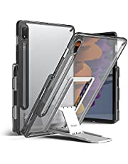 Ringke Fusion with Outstanding [Combo Pack] Transparent Back Samsung Galaxy Tab S7 11 Inch Case with Overcharge Protection Pencil Holder, Stand Spring-Action Kickstand-Smoke black (smoke black)