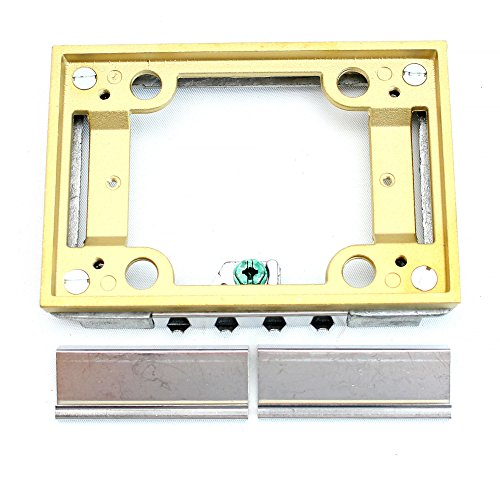 Thomas & Betts 641 P TACB Brass Tile Activation Kit, One Gang, 1-Gang, For use With Floor Boxes