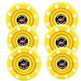 IDS 6 Pack of Roller Hockey Puck Pro Shot (Flo Yellow)