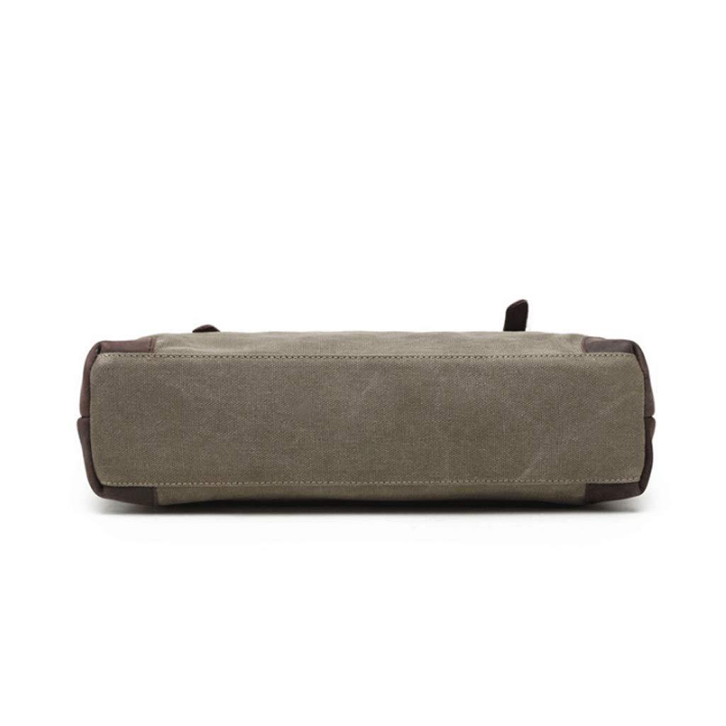 DONGLU Mens Canvas Shoulder Bag Business Messenger Bag Briefcase Color : 2#, Size : S