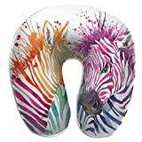 U-Shaped Neck Pillow Art Zebra Pillows Soft Portable For Travel Reading Sleeping
