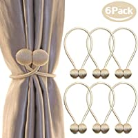 6-Pack NZQXJXZ Magnetic Curtain Tiebacks
