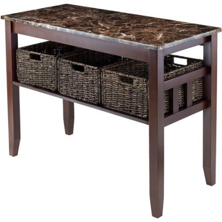 zoey-elegant-design-solid-wood-frame-hall-table-with-3-storage-woven-baskets-and-dark-faux-marble-to