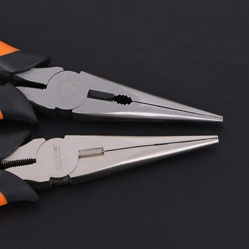 largos y puntiagudos 15,2 cm KATUR Alicates de punta larga con mango de agarre c/ómodo redondos para un buen acceso