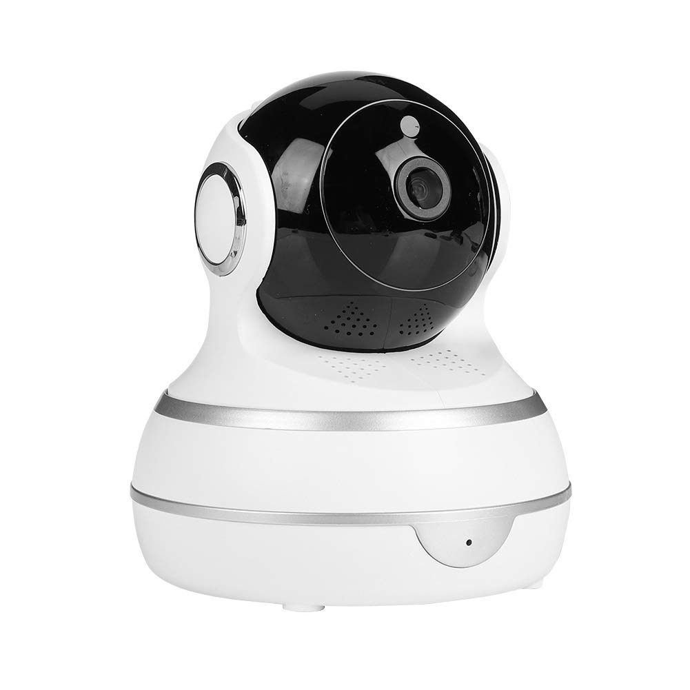 ASHATA Security Camera,100-240V WiFi Webcam Wireless 1080P Security IP Camera Network Infrared Night Vision Baby Monitor(White)