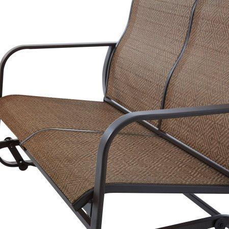 Mainstays Wesley Creek 2-Seat Sling Glider Tan (Brown)