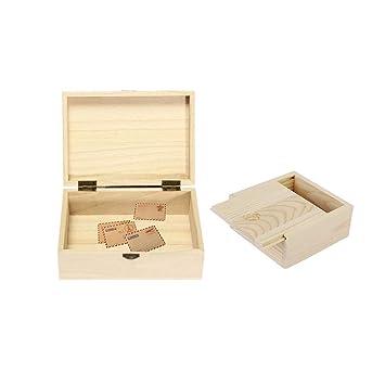 Caja madera, Fellibay wooden cajas de madera para guardar ...
